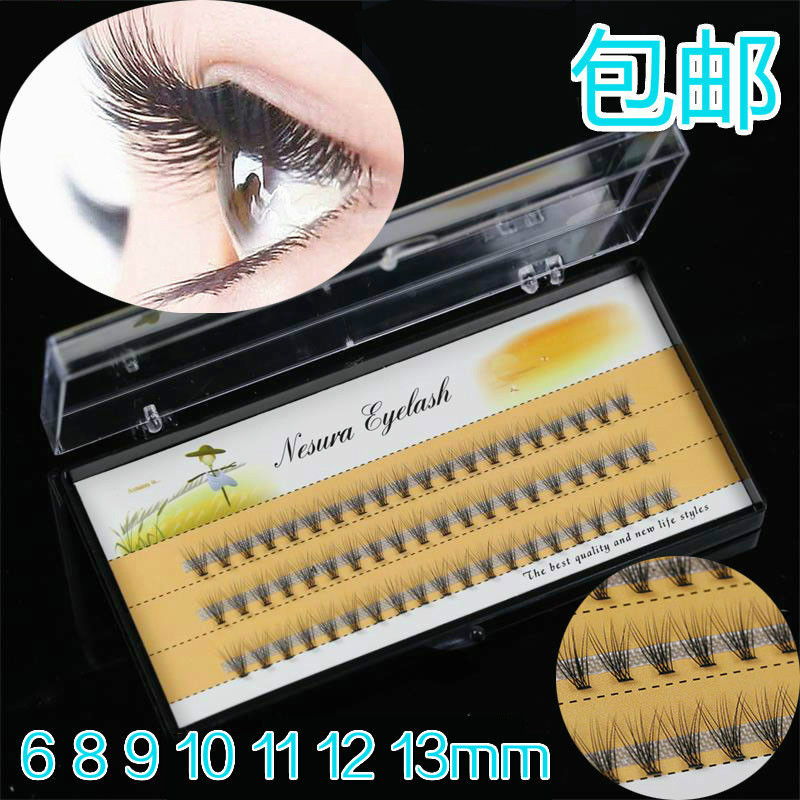 Natural Looking Volume Eyelash Extensions Prime Silk Lashes Hand Made Type